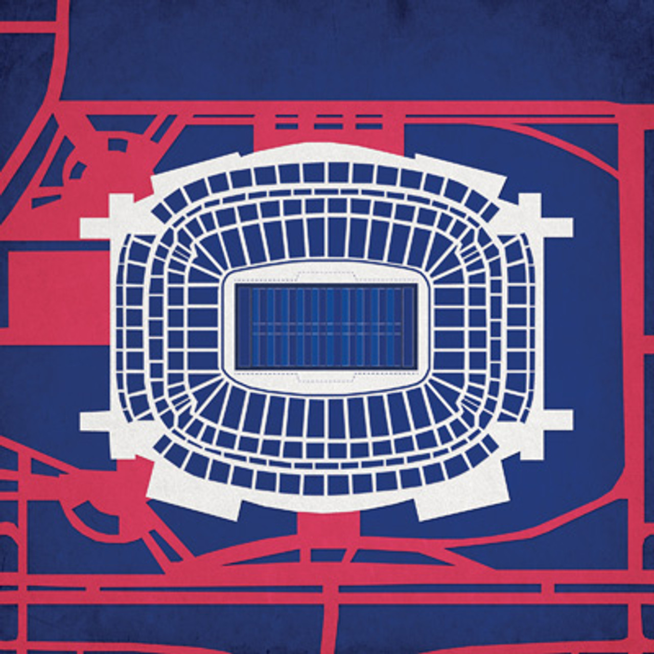 NRG Stadium - Houston Texans City Print