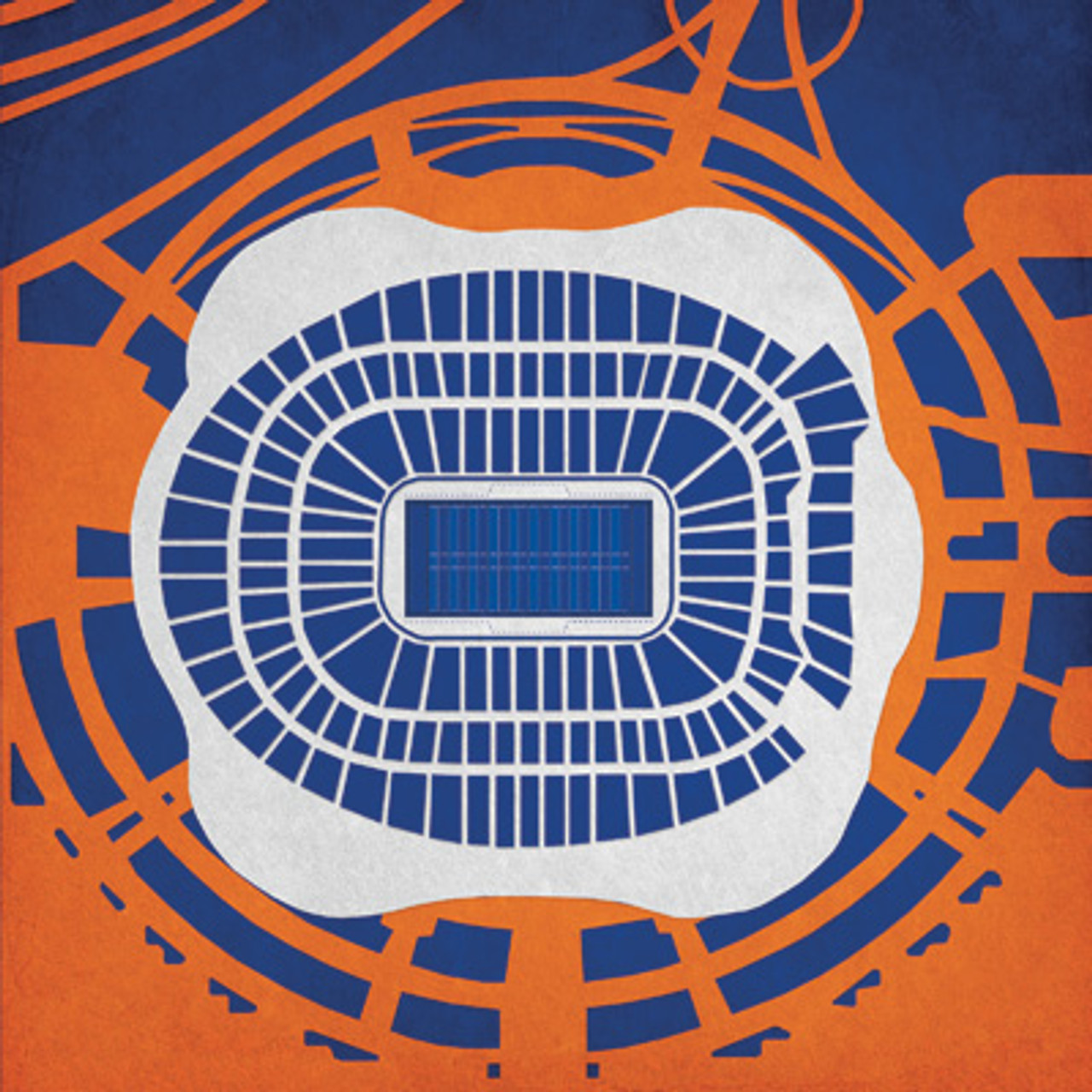 Sports Authority Field - Denver Broncos City Print