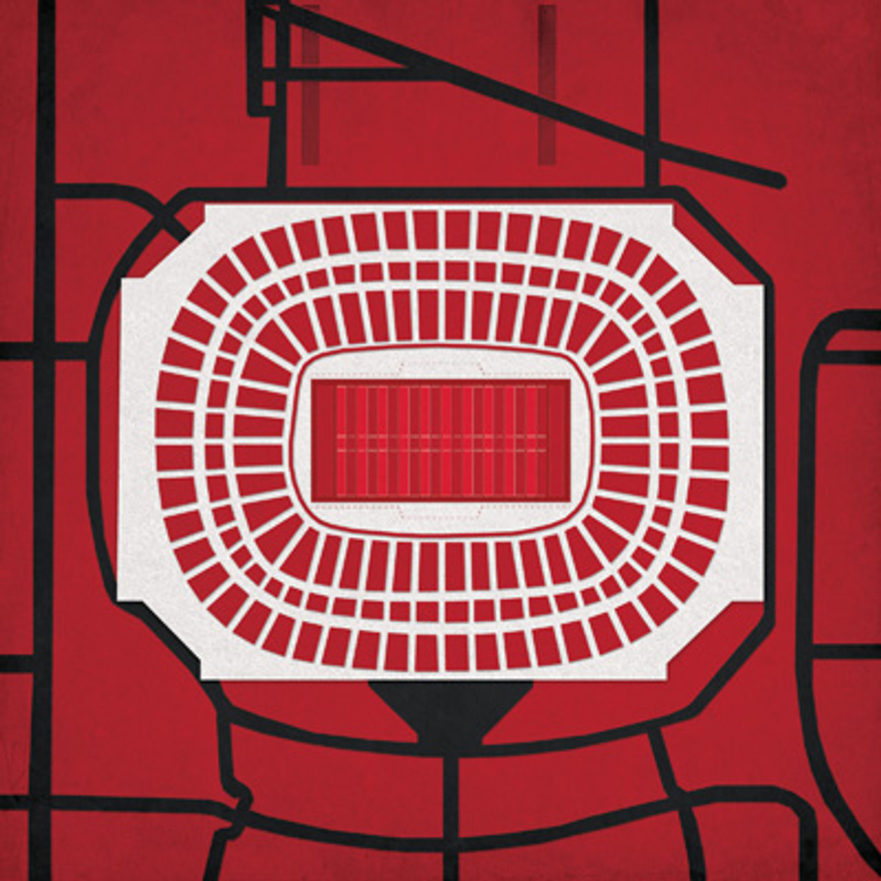 Georgia Dome - Atlanta Falcons City Print