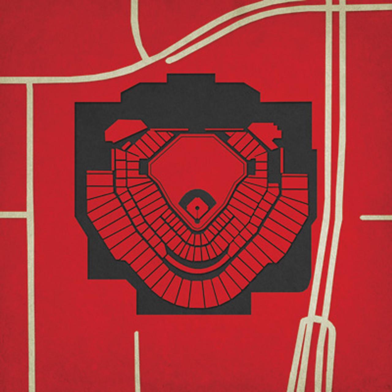 Chase Field - Arizona Diamondbacks City Print