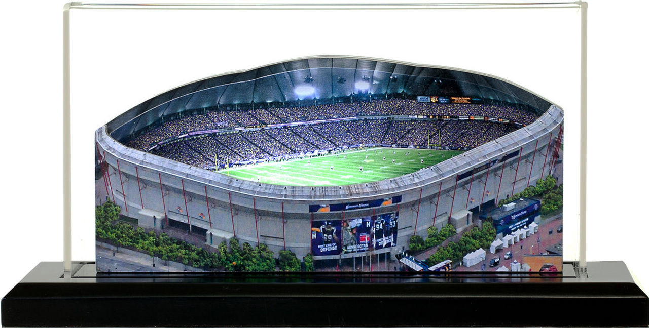 Metrodome Minnesota Vikings 3D Stadium Replica