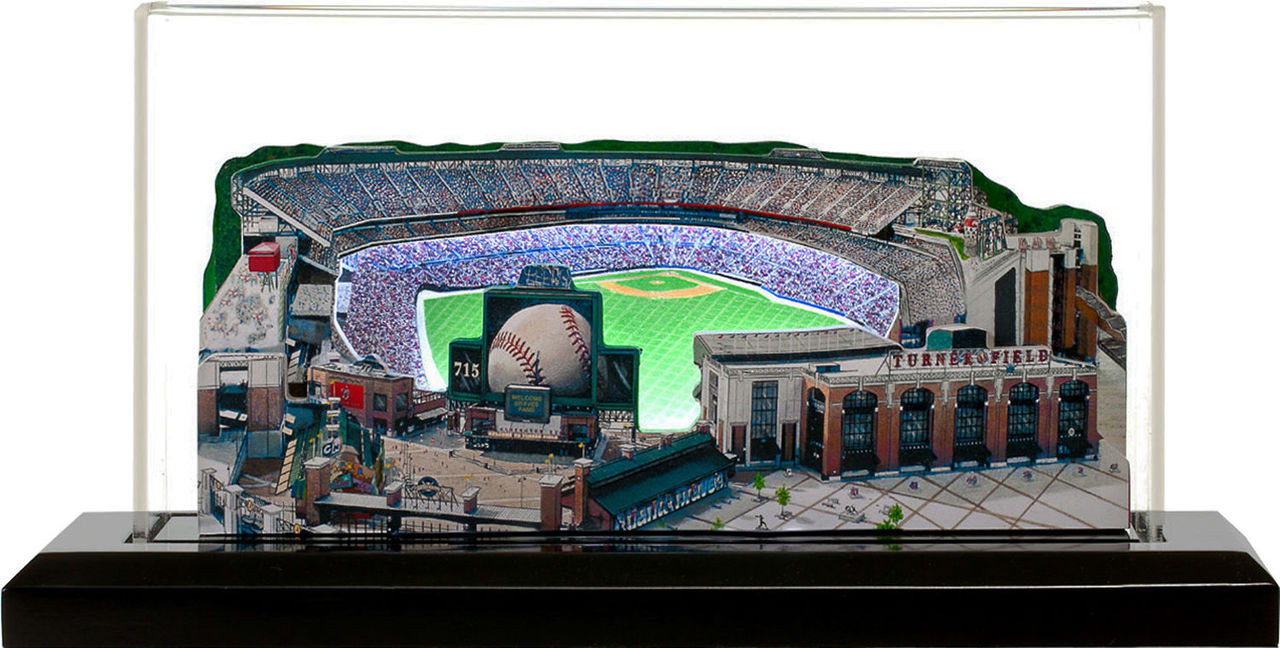 Turner Field Atlanta Braves 3D Ballpark Replica