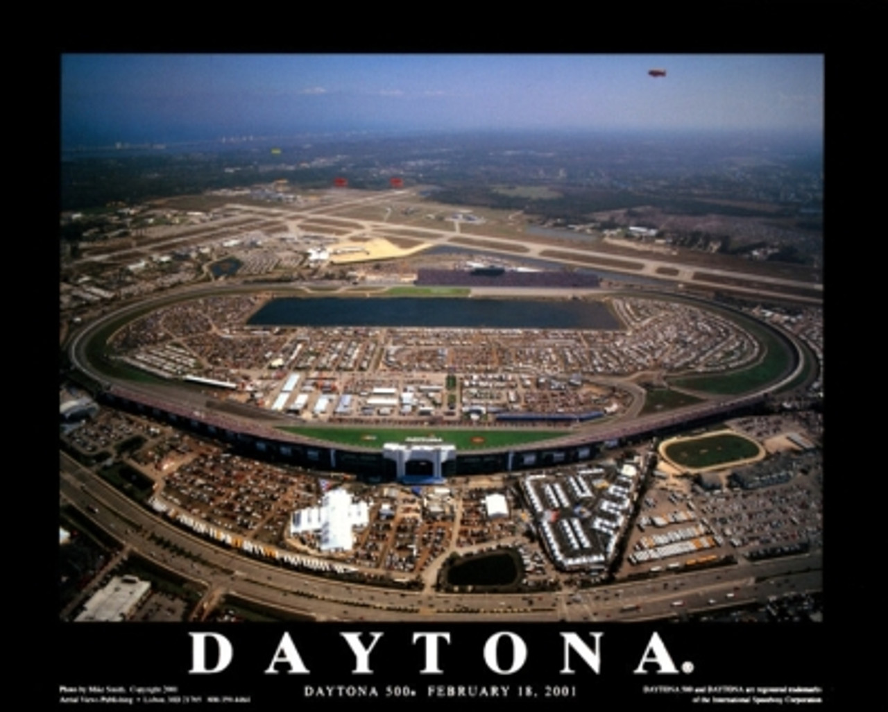 Daytona 500 - Daytona International Speedway Aerial Poster