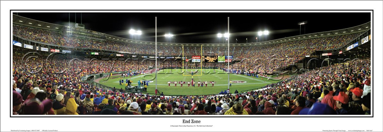 """""""End Zone"""" San Francisco 49ers Panoramic Poster"""