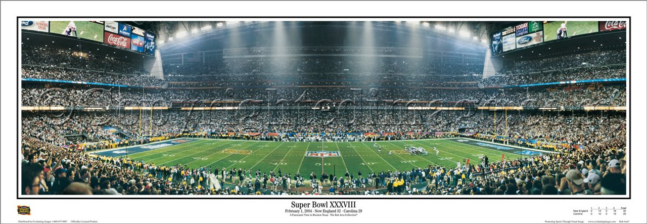 """Super Bowl XXXVIII"" New England Patriots Panoramic Poster"