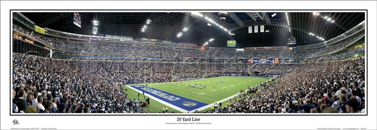 """""""20 Yard Line"""" Texas Stadium Panoramic Poster"""