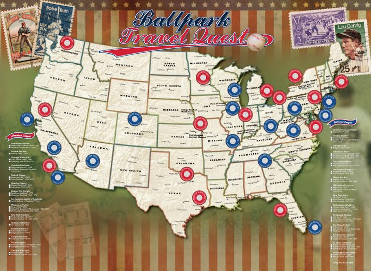 Ballparks of Major League Baseball Poster
