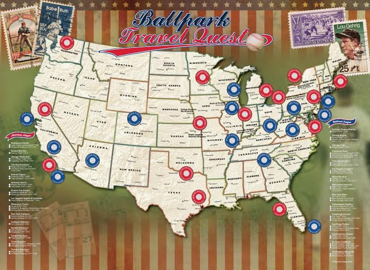 Ballparks of Major League Baseball Poster