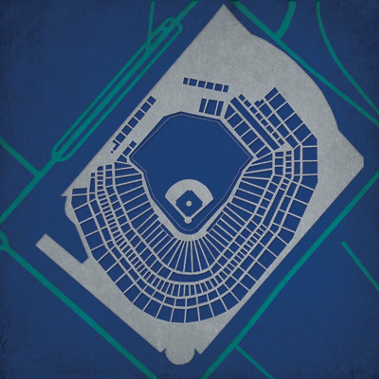 Safeco Field - Seattle Mariners City Print