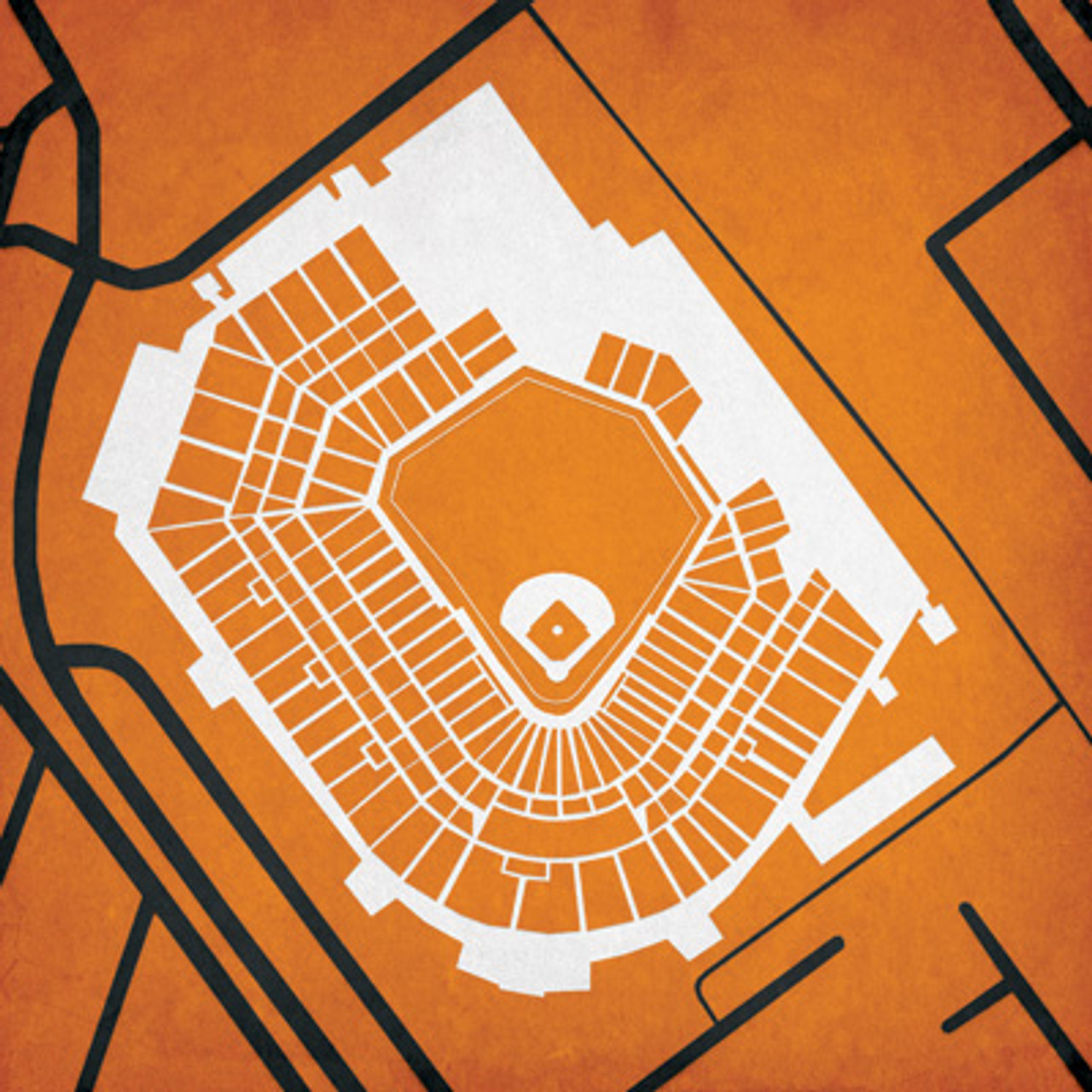 Camden Yards - Baltimore Orioles City Print