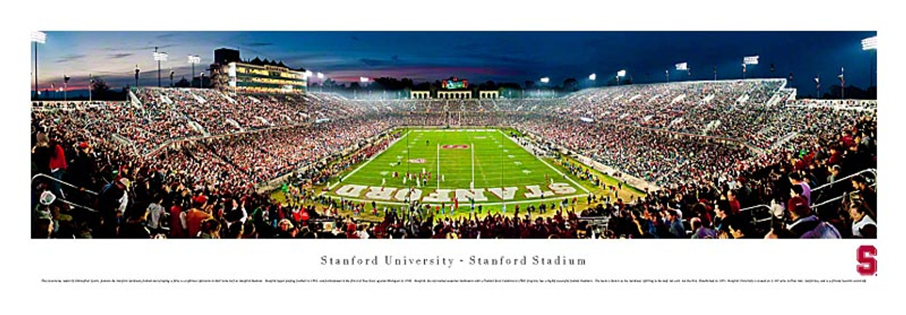 Stanford Cardinals at Stanford Stadium Panoramic Poster