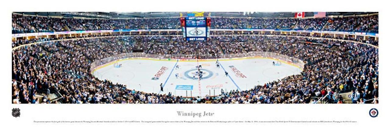 Winnipeg Jets at MTS Center Panoramic Poster