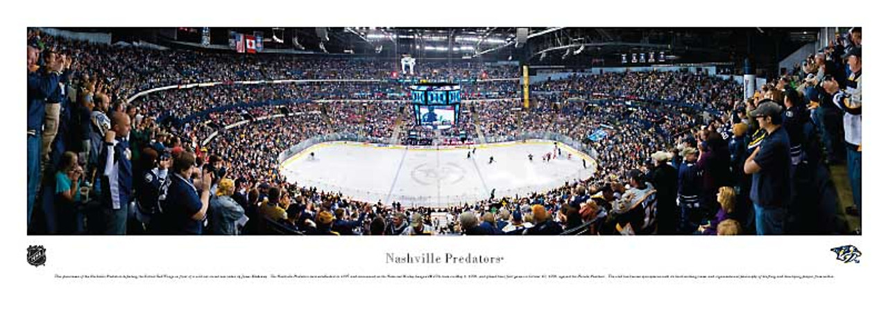 Nashville Predators at Bridgestone Arena Panoramic Poster