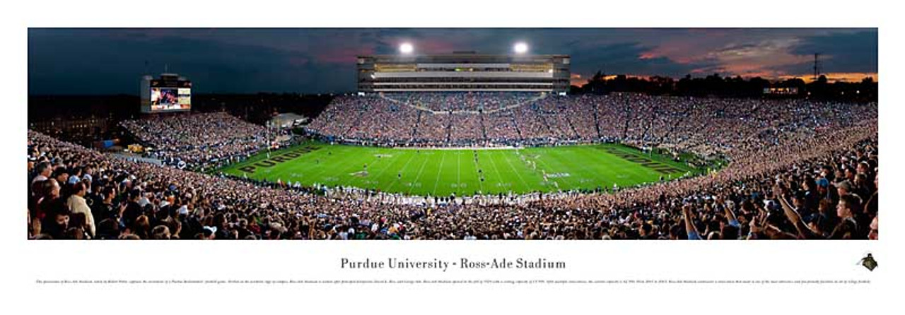 Purdue Boilermakers At Ross Ade Stadium Panorama Poster