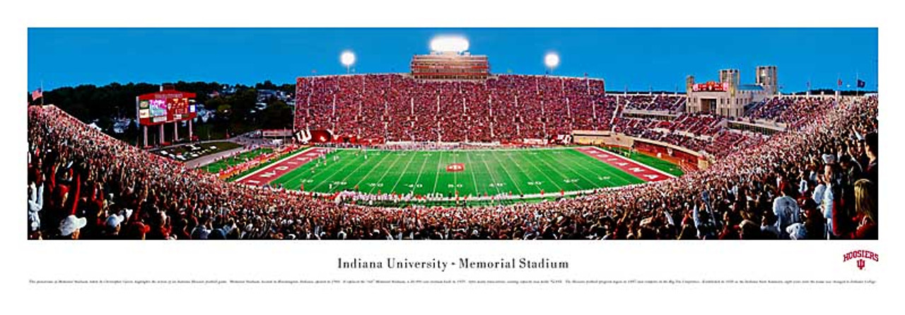 Indiana Hoosiers at Memorial Stadium Panorama Poster