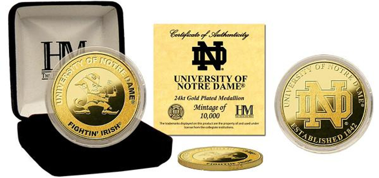 University of Notre Dame Fighting Irish 24KT Gold Coin