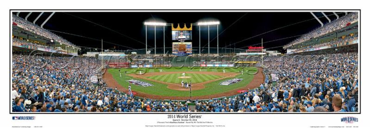 """2014 World Series"" Kansas City Royals Panoramic Framed Poster"