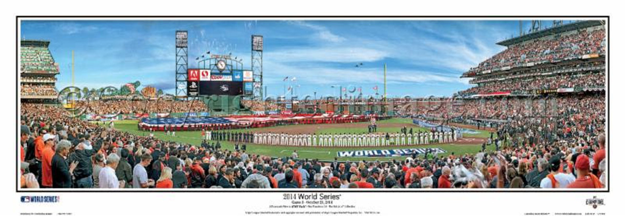 """2014 World Series"" San Francisco Giants Panoramic Framed Poster"