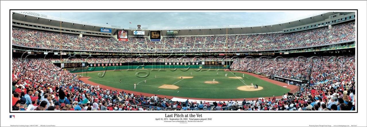 """Last Pitch at the Vet"" Philadelphia Phillies Panoramic Framed Poster"