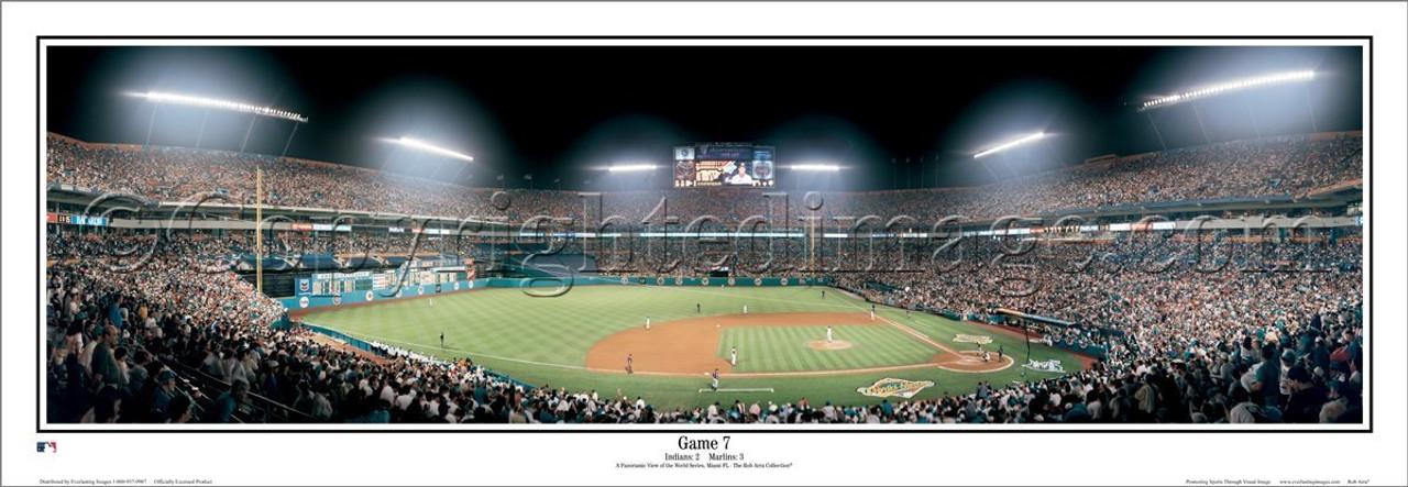"""Game 7"" Florida Marlins Panoramic Framed Poster"