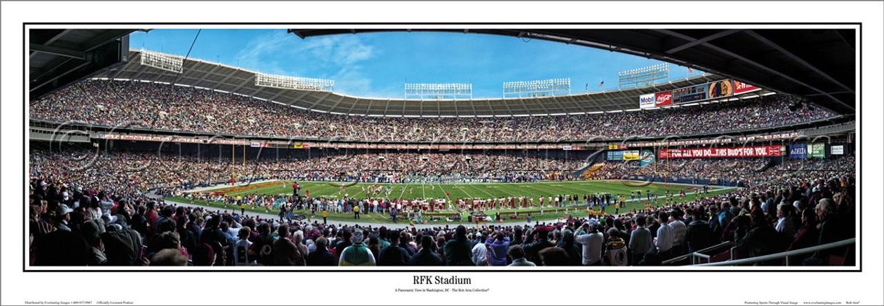 """""""RFK Stadium"""" Washington Redskins Panoramic Poster"""