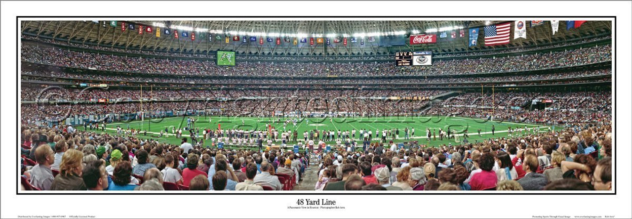 """48 Yard Line"" Houston Oilers Panoramic Poster"