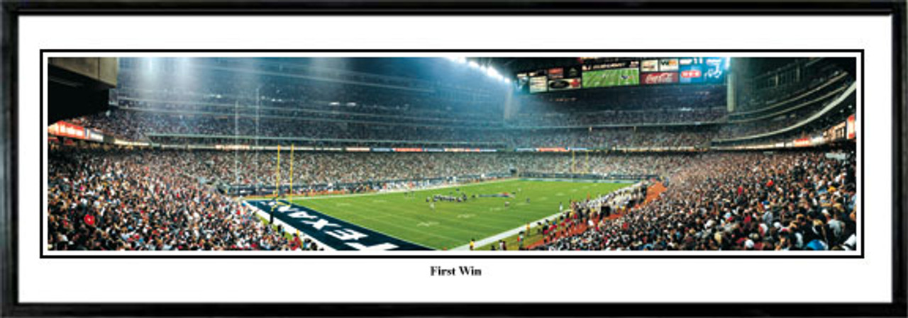 """First Win"" Houston Texans Panoramic Poster"