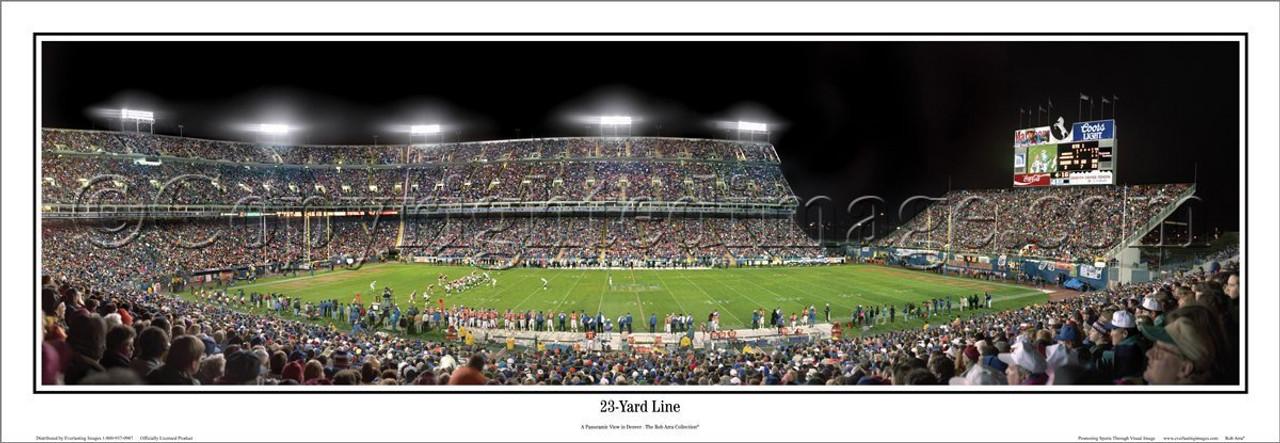 """23 Yard Line"" Mile High Stadium Panoramic Poster"