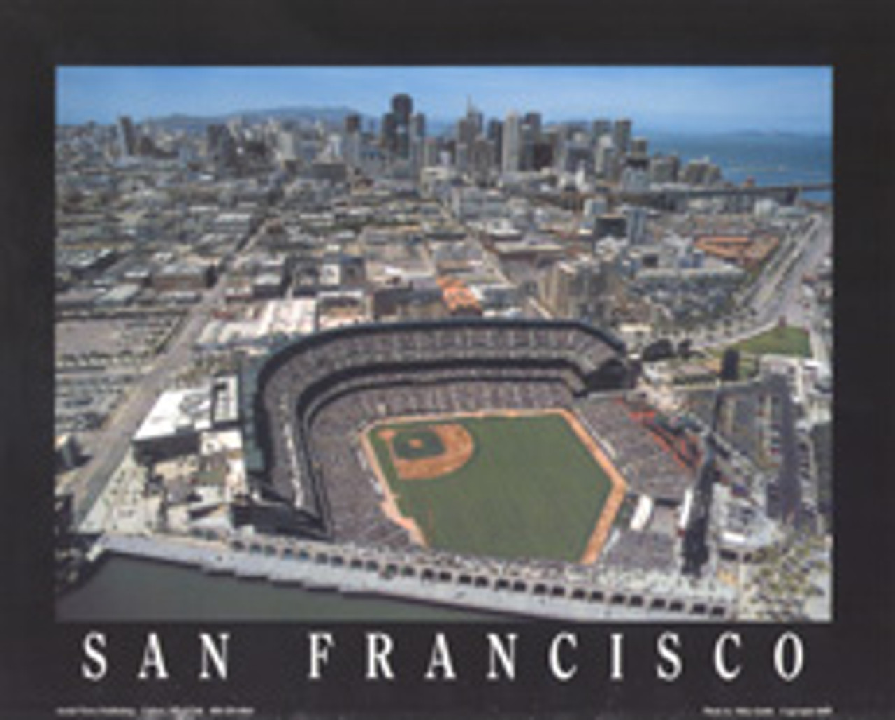 AT&T Park Aerial Poster