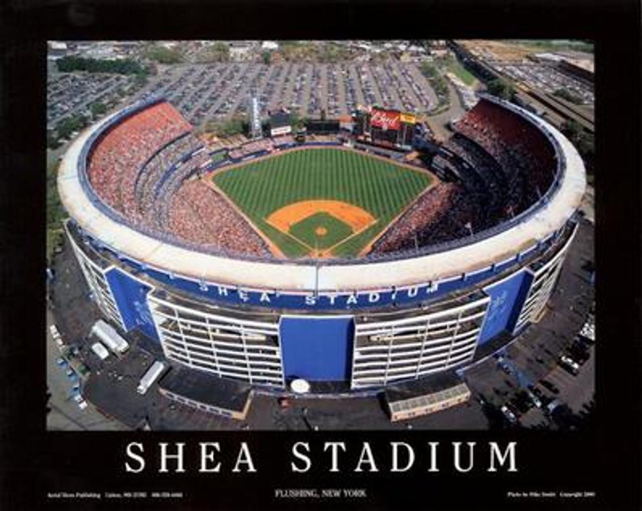 Shea Stadium Aerial Poster