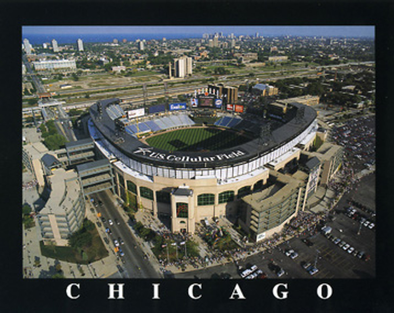 US Cellular Field Aerial Poster