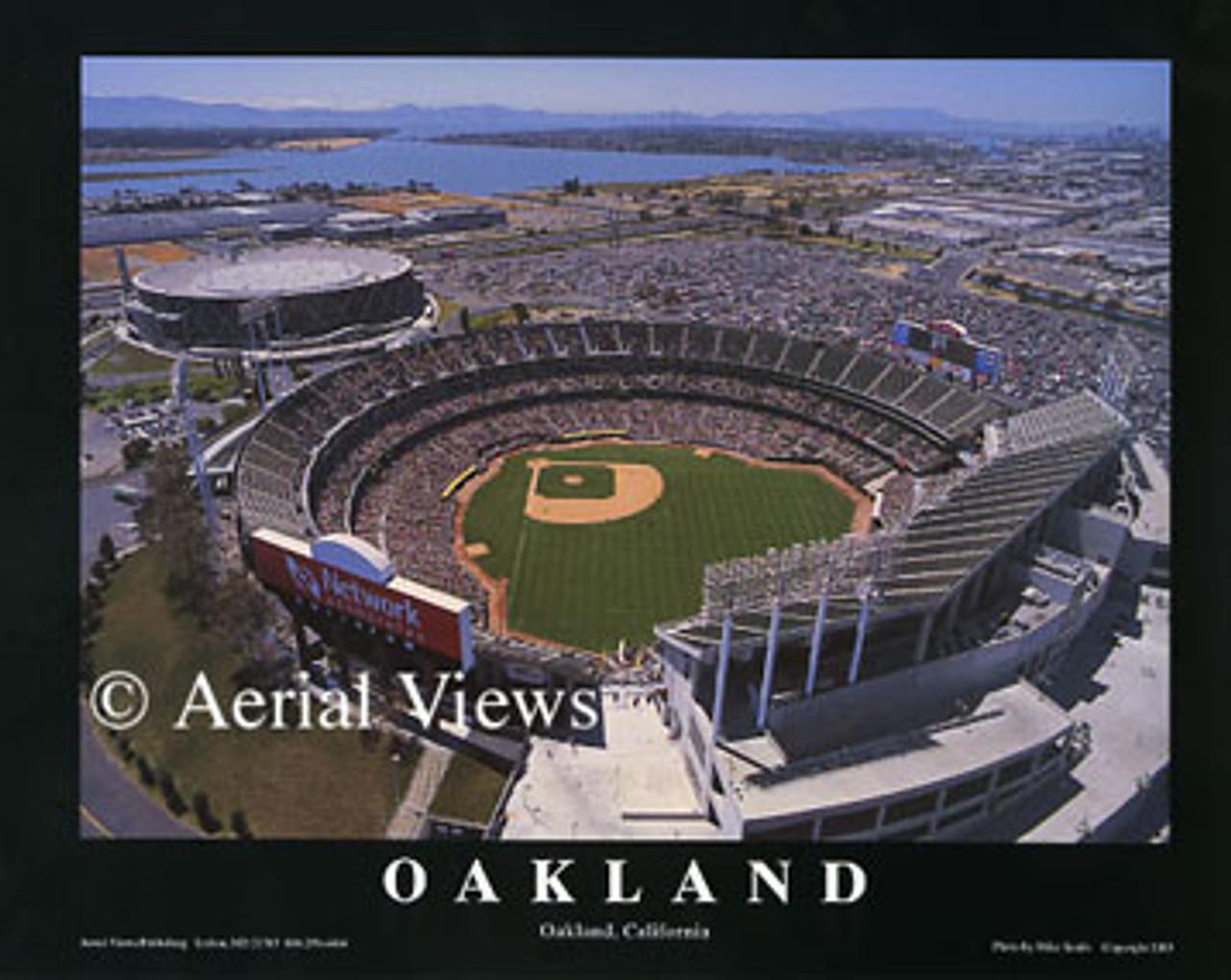 Oakland Coliseum Aerial Poster 1