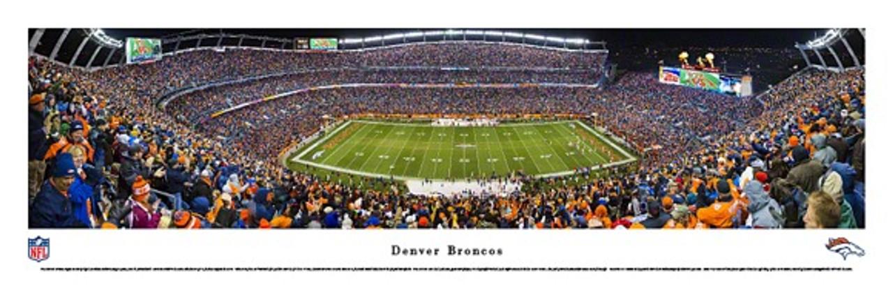 """Broncos vs Chiefs"" 2013 Invesco Field Panorama Poster"