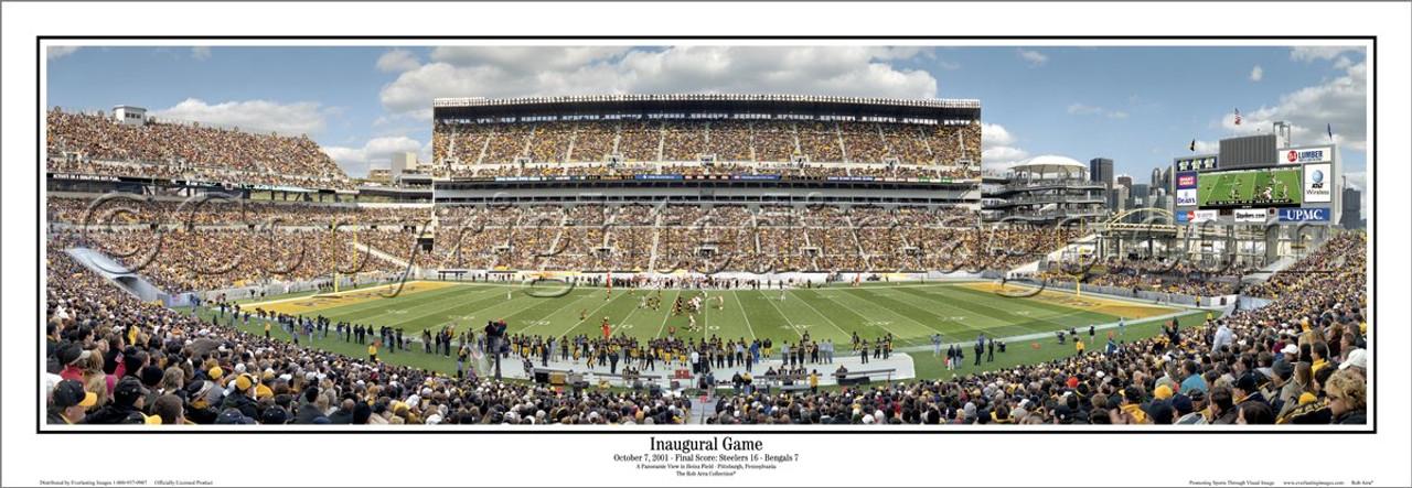 """Inaugural Game"" Pittsburgh Steelers Panoramic Poster"