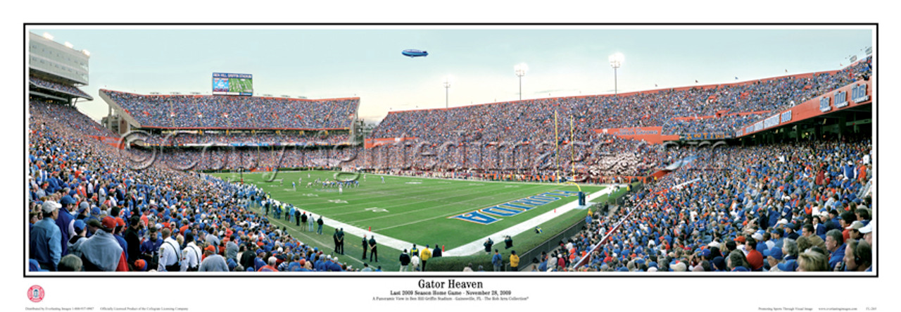 """Gator Heaven"" Florida Gators Senior Day 2009 Panoramic Poster"