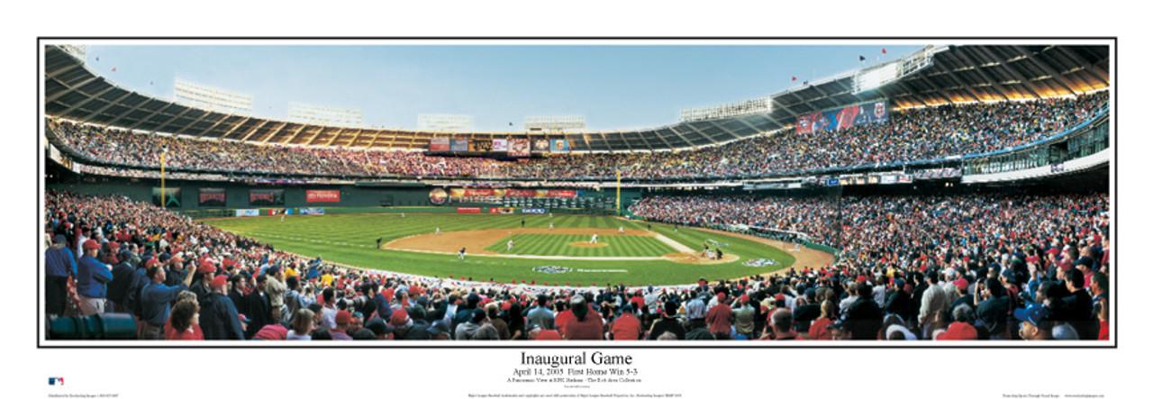 """Inaugural Game"" Nationals at RFK Stadium Panoramic Framed Poster"