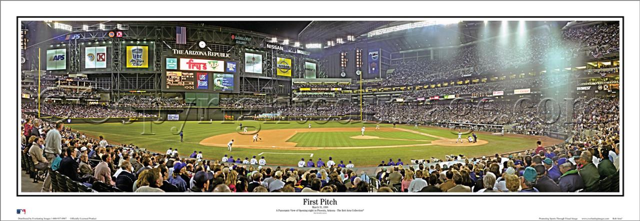 """First Pitch"" Arizona Diamondbacks Panoramic Poster"