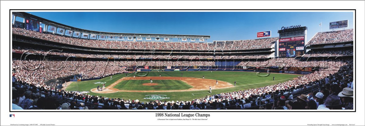 """""""1998 NLCS Champs"""" San Diego Padres Panoramic Framed Poster"""