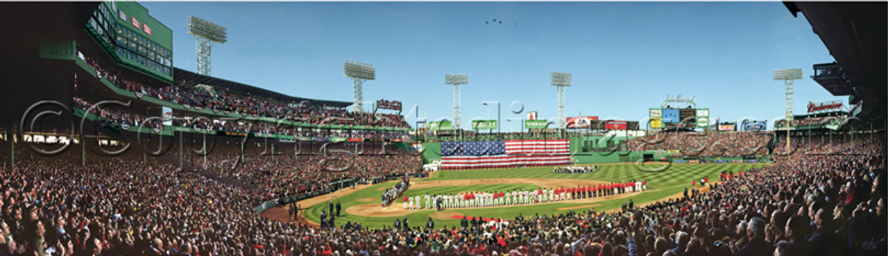 """2008 Ring Ceremony"" Boston Red Sox Framed Panoramic Framed Poster"