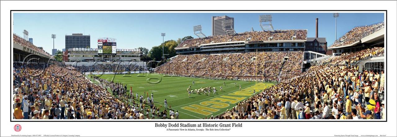"""Bobby Dodd Stadium"" Georgia Tech Yellow Jacket Panoramic Poster"