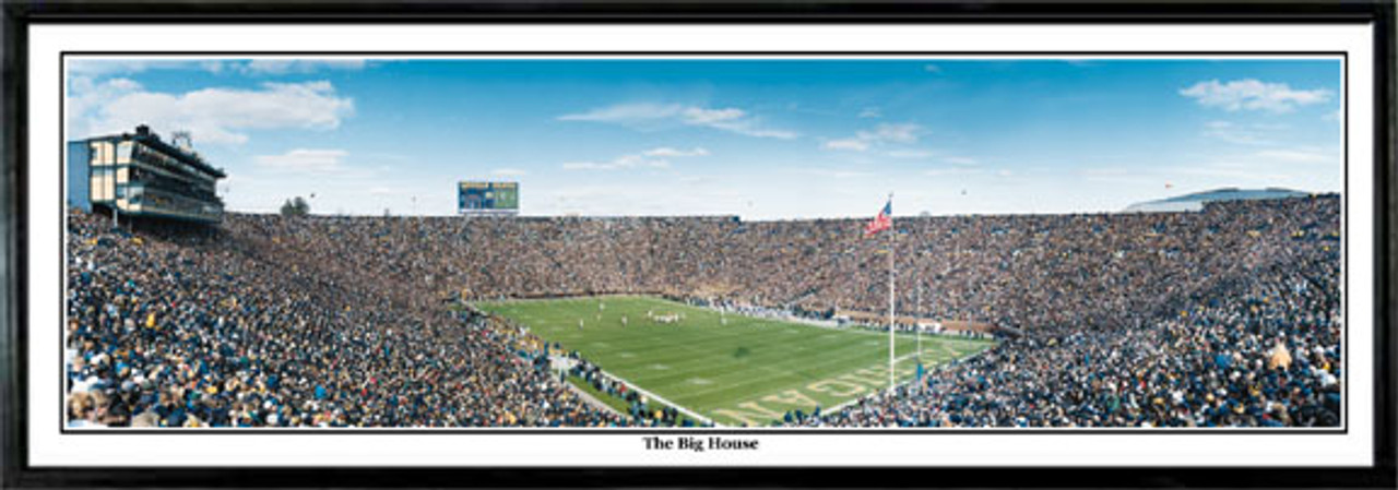 """""""The Big House"""" Michigan Wolverines Panoramic Poster"""