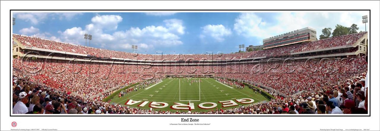 """End Zone"" Georgia Bulldogs Panoramic Poster"