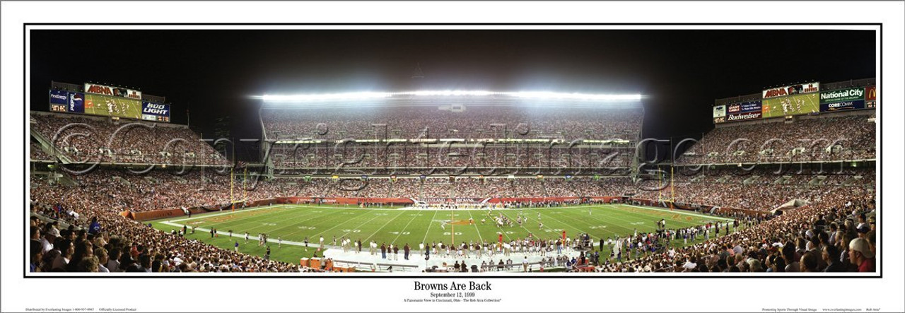 """""""Browns are Back"""" Opening Game 9/12/99 Panoramic Poster"""