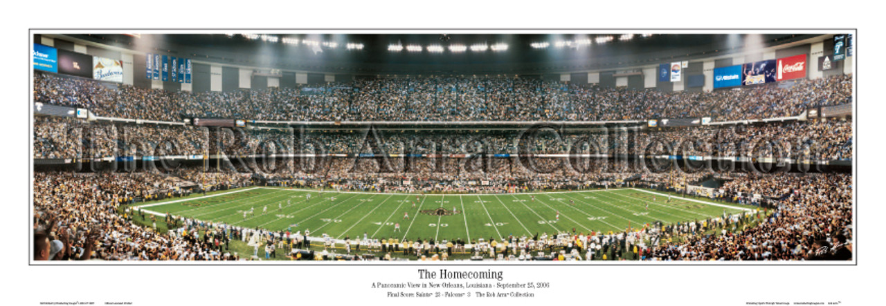 """""""The Homecoming"""" New Orleans Saints Panoramic Poster"""