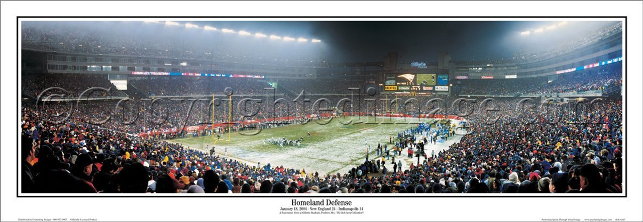 """Homeland Defense"" New England Patriots Panoramic Poster"