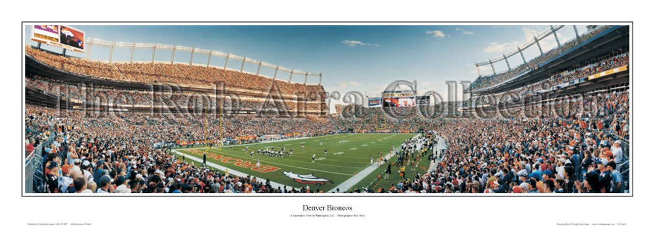 """""""Denver Broncos"""" at Invesco Field Panoramic Poster"""