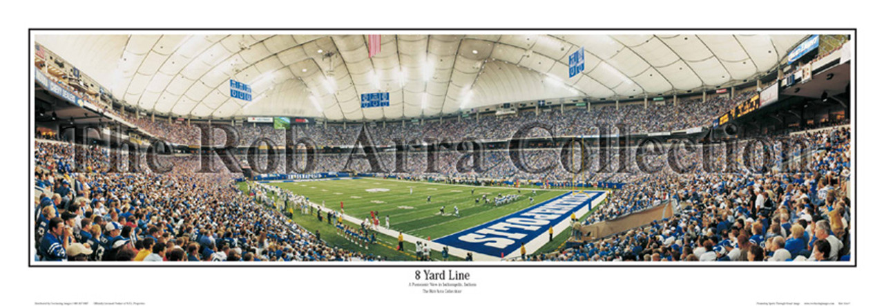 """""""8 Yard Line"""" Indianapolis Colts Panoramic Poster"""