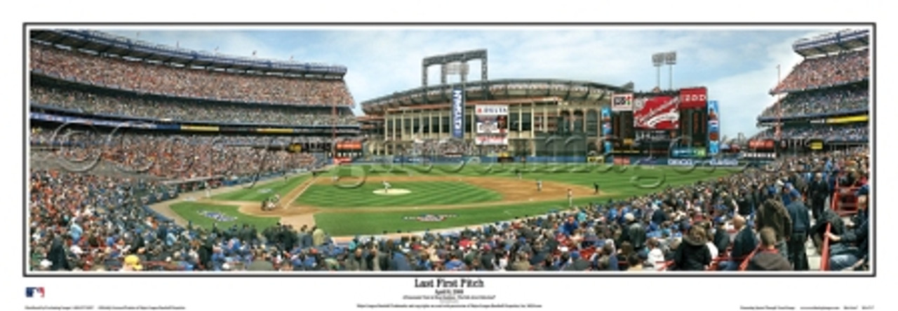 """Last First Pitch"" Shea Stadium Panoramic Framed Poster"