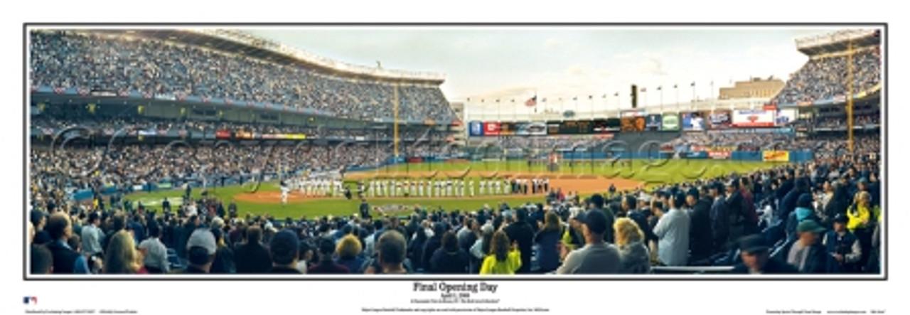 """Final Opening Day"" Yankee Stadium Panoramic Framed Poster"