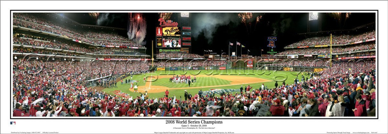 """""""2008 World Series Champions"""" Phillies Panoramic Framed Poster"""